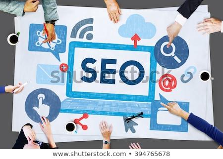 seo · internet · marketing · strategie · Blauw - stockfoto © make
