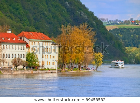 boat on shore of danube river Stock photo © mady70