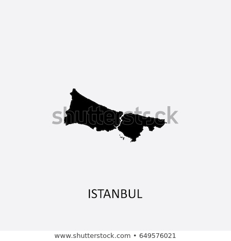 Istanbul Map with administrative districts where Silivri is pull Stock photo © Istanbul2009