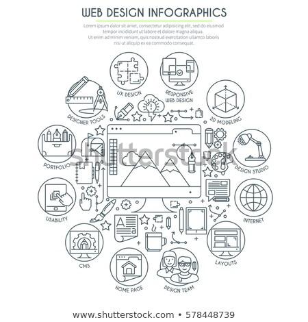 Czuły web design mechanizm metal projektu Zdjęcia stock © tashatuvango