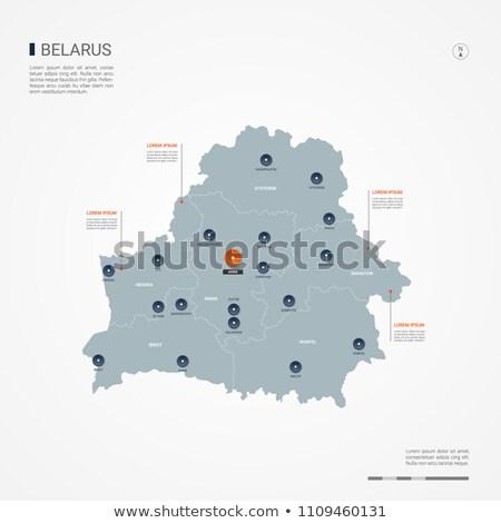 оранжевый кнопки изображение карт Беларусь форме Сток-фото © mayboro
