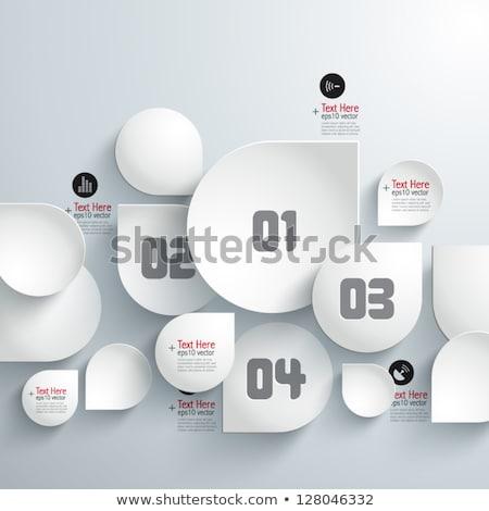 modern · vektor · absztrakt · kördiagram · infografika · elemek - stock fotó © jiunnn