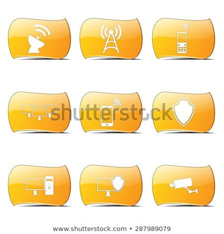 telecom communication yellow vector buttonicon design set stock photo © rizwanali3d