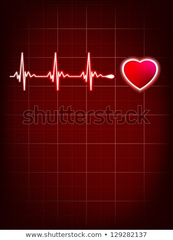Red heart beat. Ekg graph. EPS 8 Stock photo © beholdereye