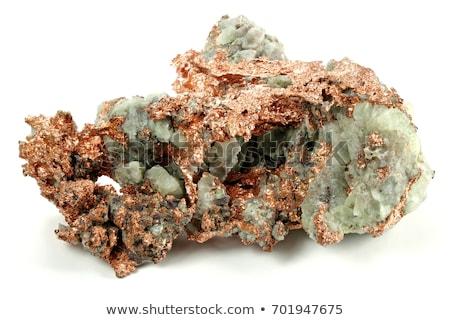 természetes · réz · izolált · fehér · kő · kő - stock fotó © jonnysek