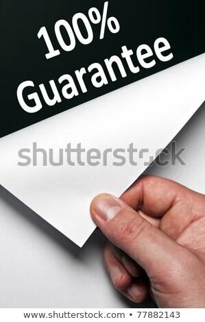 100 · garancia · papír · szó · felirat · zöld - stock fotó © fuzzbones0