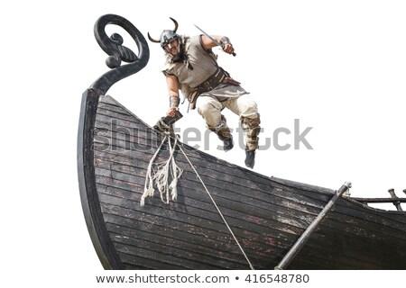 medieval · capacete · branco · cara · homem · máscara - foto stock © elnur