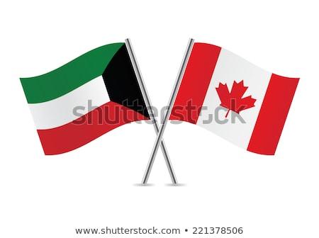 Canada Koeweit vlaggen puzzel geïsoleerd witte Stockfoto © Istanbul2009