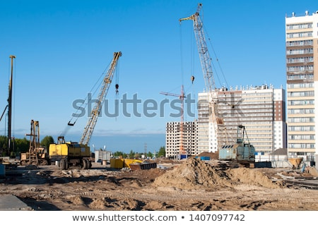 Construction site of residential house in Tyumen Stock photo © Aikon