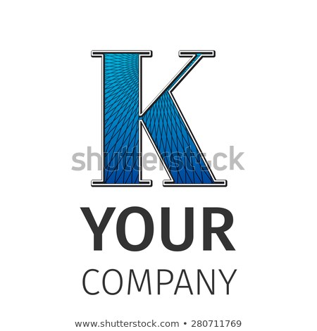 abstract guilloche logo letter k stock photo © netkov1