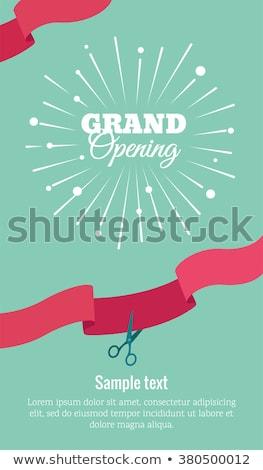 scissors template for design eps 8 vector illustration vladimir