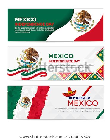 Messico rivoluzione giorno vettore mexican simboli Foto d'archivio © kovacevic