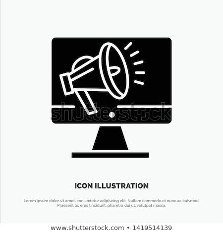 hangszóró · hangerő · rajzolt · kréta · ikon · kézzel · rajzolt - stock fotó © rastudio