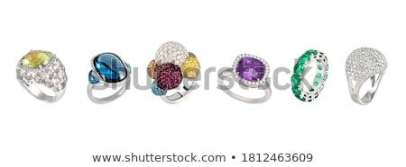 tiare · mariage · rose · précieux · pierres · illustration - photo stock © karamio