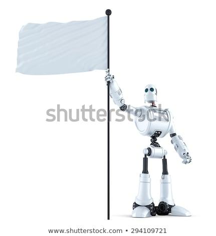 robô · bandeira · 3d · render · esportes - foto stock © kirill_m