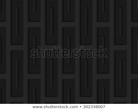 Black textured plastic rectangles with whole Stock photo © Zebra-Finch