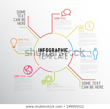 Stock foto: Vector Infographic Report Template Made From Lines And Icons