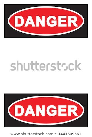 знак опасности красный вектора икона кнопки интернет Сток-фото © rizwanali3d