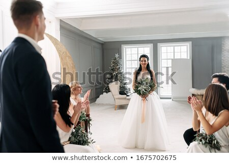 young amazed elegant woman is looking at her man  Stock photo © feedough