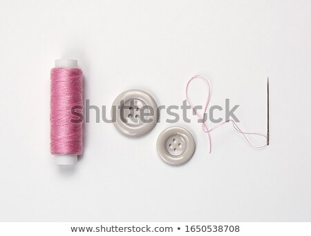 Yarn and sewing needles isolated on white background Stock photo © teerawit