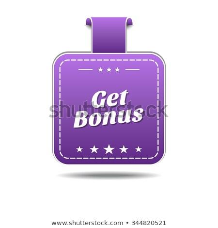 бонус фиолетовый вектора икона дизайна цифровой Сток-фото © rizwanali3d