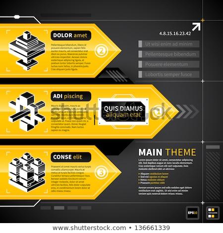 Seçenek sarı vektör ikon dizayn dijital Stok fotoğraf © rizwanali3d