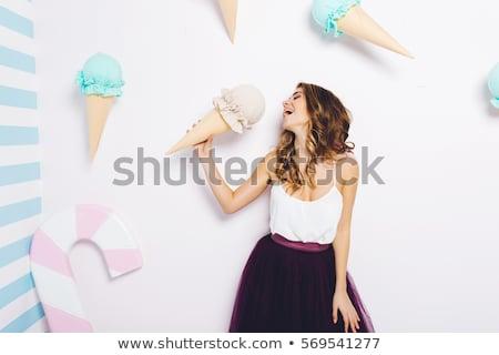 Sweet cool brunette beauty. Stock photo © lithian