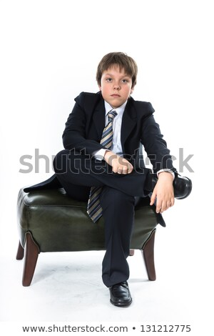 Boy sits in luxury office Stock photo © Paha_L