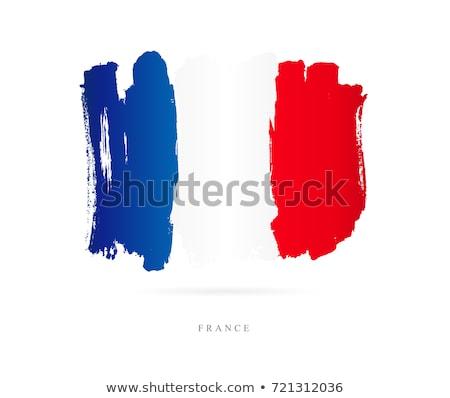 Franciaország zászló árnyék szín kék fehér Stock fotó © hlehnerer