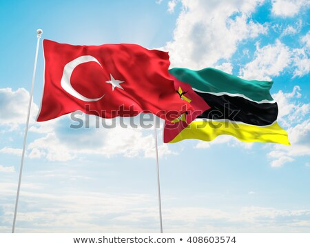 Turkey and Mozambique Flags Stock photo © Istanbul2009