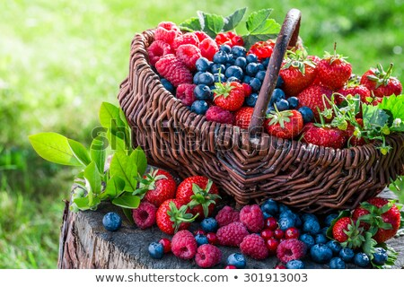 Redcurrant berries and Strawberries Stock photo © laky981