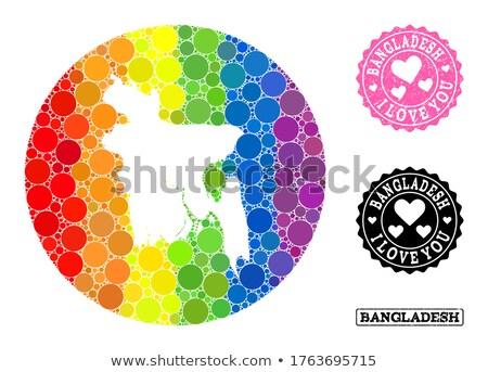 Bangladesh gay carte pays fierté pavillon Photo stock © tony4urban