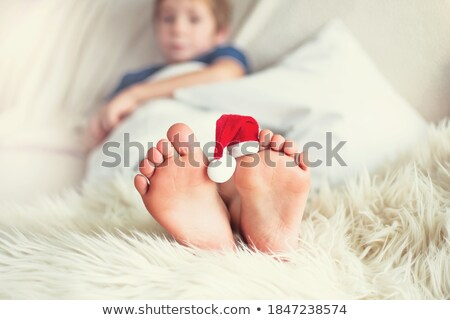 mother with child in furry hats Stock photo © Paha_L