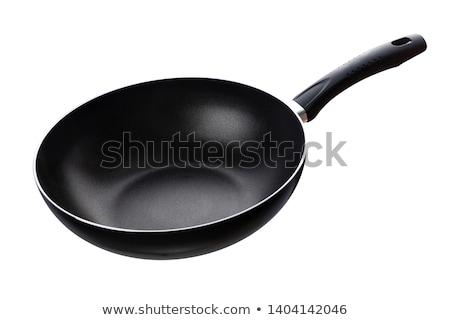Serpenyő izolált étel fém acél fehér Stock fotó © shutswis