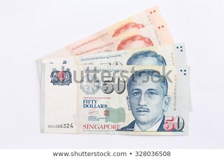 Szingapúr bankjegyek közelkép részlet pénz utazás Stock fotó © CaptureLight