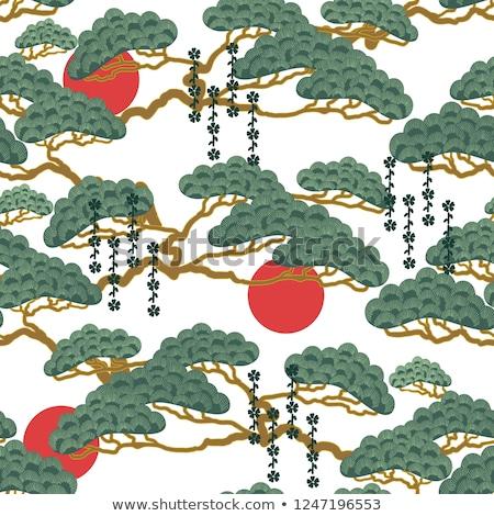 盆栽 パターン 春 桜 メイプル デザイン ストックフォト © artibelka