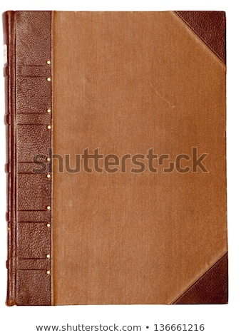 old rough leather book cover old rough leather book cover stock photo © 3mc