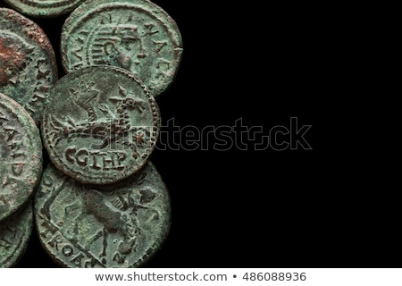Stock photo: Ancient coins of different metals