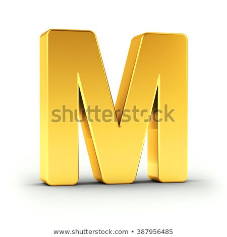 The letter M as a polished golden object with clipping path Stock photo © creisinger