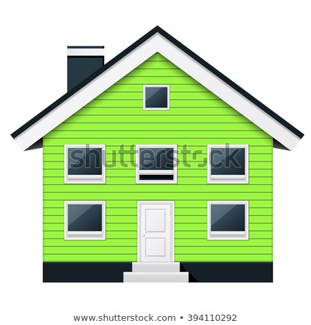 Green scandinavian condominium - green suburban townhouse Stock photo © Winner