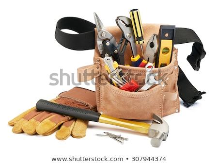 werk · tool · oude · meetlint · hamer · roestige - stockfoto © guillermo