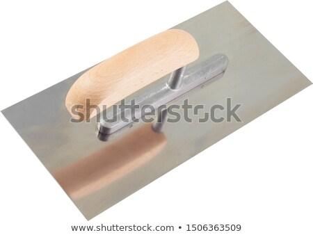 cement steel trowel closeup stock photo © oleksandro