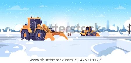 Neve máquina três montanha Foto stock © funix