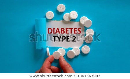 Diabete carta strappata parola dietro strappato carta marrone Foto d'archivio © ivelin