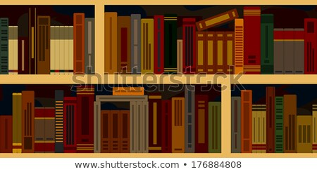 Books vector seamless texture vertically and horizontally. Bookshelf background. Stock photo © Hermione