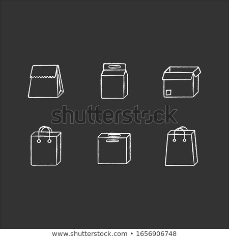 carton package box drawn in chalk icon stock photo © rastudio