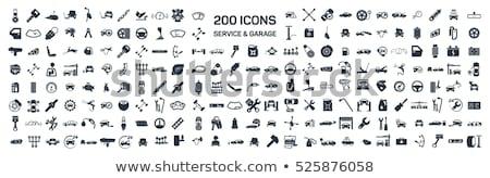 Autó szolgáltatás ikon szett terv autójavítás alkatrészek Stock fotó © Genestro