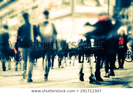 Urban street with pedestrians out of focus Stock photo © stevanovicigor