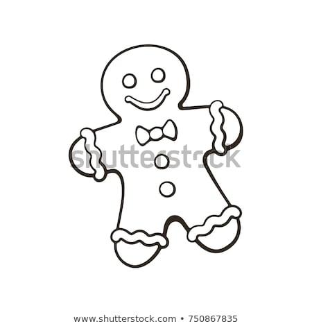болван Колобок икона Cookie синий пер Сток-фото © pakete