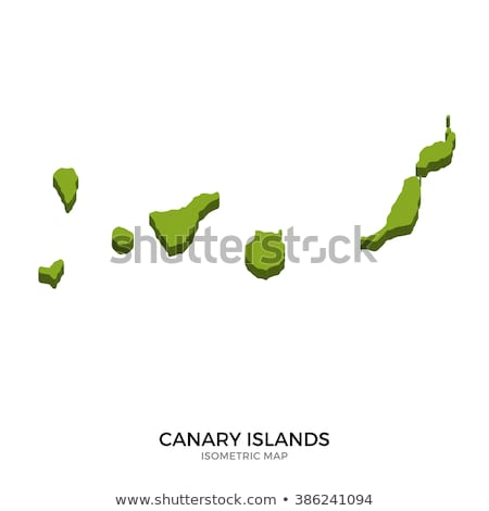 Isometric map of Canary Islands detailed vector illustration Stock photo © tkacchuk